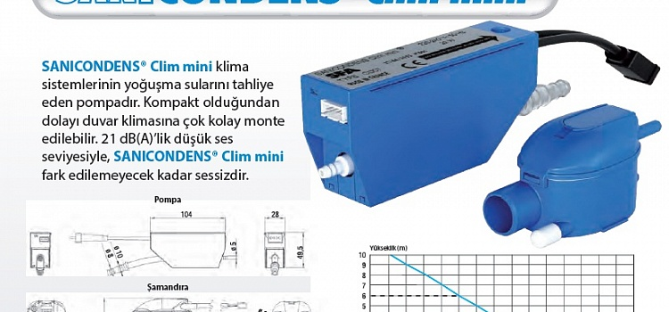Насос Sanicondens Clim mini